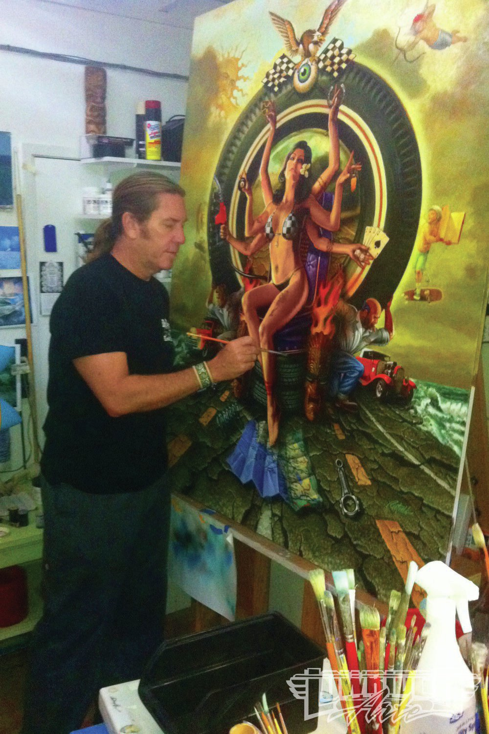 rick_rietveld_painting_in_his_studio