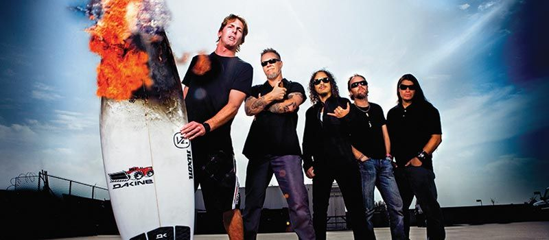 Metallica y Andy Irons