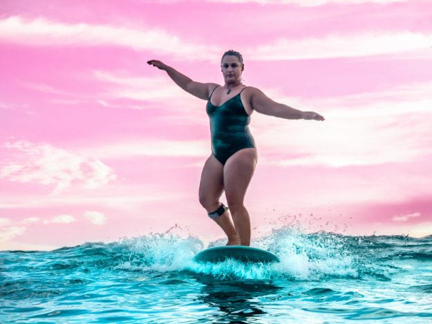 Curvy Surfer Girl